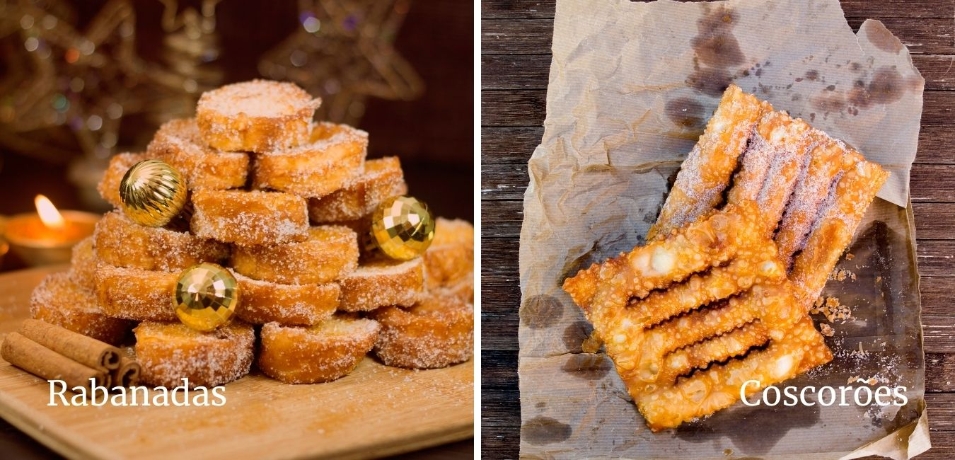 two types of portuguese christmas desserts